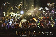 """DotA 2 Posters All Heroes Silk Wall Poster Gaming Room Prints 18x12"""" AUQ100.1"""