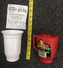 Mighty Morphin Power Rangers Power Icy Mugg cup Frozen Treat Maker Red Color