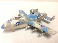 "Tailwinds A-10 Thunderbolt Aircraft 6"" Diecast Pull Back Sound Light Toys Blue"