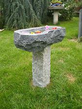 Vogeltränke aus Granit Nr. 28 | Vogelbad aus Naturstein | Unikat | Handarbeit !