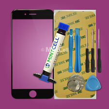 "Black LCD Front Screen Glass Lens Replacement for 4.7"" iPhone 6  Repair w/ LOCA"