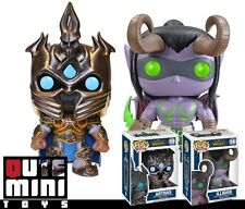 FUNKO POP! GAME WORLD OF WARCRAFT ILLIDAN + ARTHAS SET OF 2 #14 #15 VINYL FIGURE