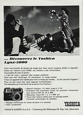 PUBLICITE  YASHICA LYNX 5000  / PHOTO APPAREIL PHOTO    AD  1966  /5 F