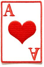 BRAND NEW ACE OF HEARTS POKER CARDS GAMBLING CASINO BIKER IRON ON PATCH
