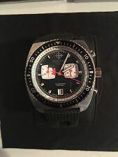 Zodiac Sea Dragon ZO3005 Mens Diver's Watch Black White Black Band Swiss Made