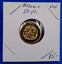 Masonic A Mason 50 Years Grand Lodge of Ohio Fraternal Pin Pinback Button