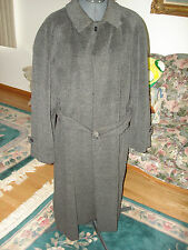 NICE GIORGIO ARMANI GRAY WOOL MADE IN ITALY FULL LONG COAT WITH BELT SIZE 52