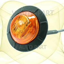 "Amber 1-1/4"" 1.25""  Side Light 6 LED Marker Waterproof Lamp Trailer Caravan Car"
