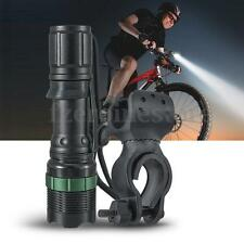 3000Lm Zoom LED Mount Cycling Bicycle Bike Front Light 18650 Flashlight Torch