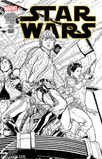 Star Wars #1 NEW Marvel Comics Joe Quesada Black and White Sketch Variant Cover