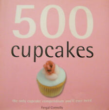 500 Cupcakes Fergal Connolly Hardcover Cookbook Small Thick Format
