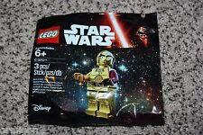 """LEGO Star Wars The Force Awakens C-3P0 Minifigure Polybag Toys""""R""""Us 5002948"""
