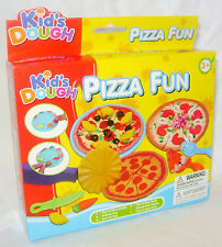 NEW PIZZA FUN DOUGH SET WITH 3 COLOURS PLAY CLAY PLUS TOOLS FOOD TY4837