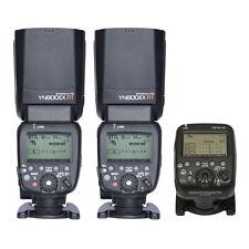 UK Yongnuo 2PCS YN600EX-RT TTL Flash + YN-E3-RT Transmitter Speedlite For Canon