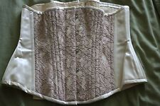 Bettie Page Inspired Secrets in Lace Ivory & Lace Under Bust Corset-Size 30-New
