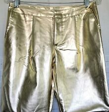 MUSTARD SEED Mid Rise Gold Poly PU Skinny Jeans Small 6 X 28 New!