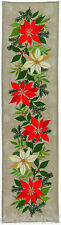 Eva Rosenstand  23-295  Chemin de Table Noël  Poinsettia  Point de Croix Compté