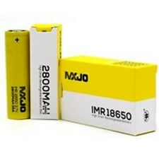 2 MXJO IMR 18650 2800mAh 35A 3.7v Rechargeable Flat Top High Drain Battery Batte