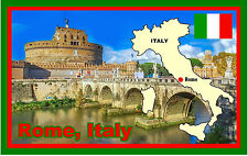 ROME, ITALY - SOUVENIR NOVELTY FRIDGE MAGNET - SIGHTS / FLAGS / MAPS - GIFTS