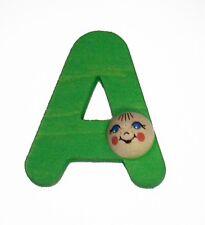 Iniziale A con Testa 50 x 50 x 20 NUOVO Lettera in legno Lettera porta di legno