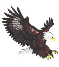 EAGLE-AMERICAN-BIRDS-USA-BIRD OF PREY/On Embroidered Applique Patch
