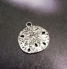 Sand Dollar Charms Ocean Charms Antiqued Silver Nautical Charms 50pcs