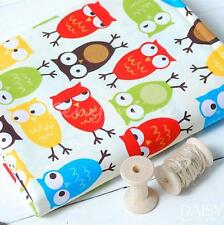 52x160cm Cotton Owl Fabric Kids Patchwork Craft Twill Handmade Curtain Quilting