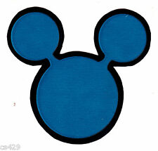 """3"""" DISNEY MICKEY MOUSE EARS BLUE CHARACTER PREPASTED WALLPAPER BORDER CUT OUTS"""