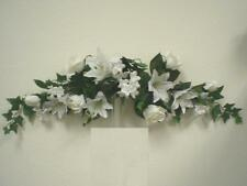"CREAM Rose Lily Stephanotis 24"" Swag Artificial Satin Flower 713CR"
