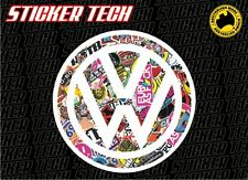 VW STICKER BOMB DECAL SUITS GOLF MK3 MK4 MK5 MK6 R R32 JETTA COMBI KOMBI BEETLE