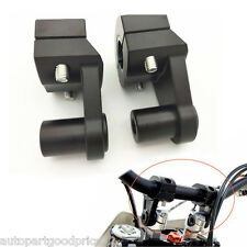 "2x Black Handle Fat Bar Mount Clamp Riser for Dirt Bike Motocross 7/8"" Handlebar"