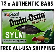 12 x BLACK AFRICAN SOAP PURE NATURAL INGREDIENTS DUDU OSUN BAR ACNE ECZEMA 150g