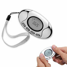 2in1 LCD Pedometer Step Counter Fat Calorie Analyzer Clock Monitor Alarm Meter