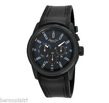 NIB KENNETH COLE 10022537 Mens Black Multi Function Watch with LED Lighting $155