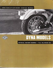 2002 Harley Dyna Super Wide Glide T Sport Low Rider Service Repair Manual 481-02