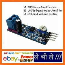 E48 LM386 Audio Amplifier Module Onboard Adjustable Volume Control 200x Output