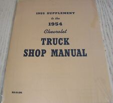 1955 SUPPLEMENT TO THE 1954 CHEVROLET TRUCK SHOP SERVICE MANUAL