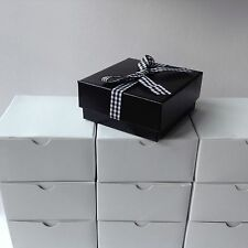JOB LOT OF 12 BLACK LUXURY NECKLACE PENDANT GIFT BOX
