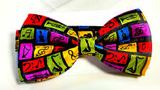 NEW MUSIC MUSICAL G CLEF NOTES HORN BOW TIE NECK TIE PRE-TIED ADJUSTABLE  In Box