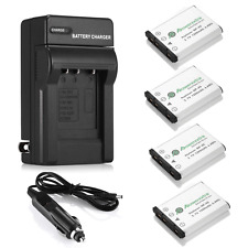 4x 1200mAh NP-45 NP-45A Battery + Charger for Fujifilm FinePix XP50 XP60 XP70
