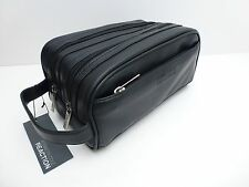 KENNETH COLE REACTION Men's Black Toiletry Case *Shave Kit *Travel Dopp Bag *New