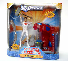 "DC UNIVERSE_YOUNG JUSTICE__Solar Suit SUPERBOY 6 "" figure + Sculpted Diorama_MIB"