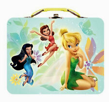 Disney Fairies Tinkerbell Embossed Tin Metal LunchBox Lunch Box Tote Bag NEW