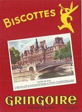 Buvard Biscottes Gringoire Hotel de ville de Paris