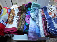 Vintage Used Ladies Selection of Gorgeous Scarves 10 Items 1 Silk c1940's +