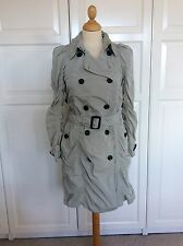 BURBERRY Femme Beige MAC/Imperméable/Trenchcoat Taille UK 8