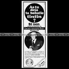 EDGAR P JACOBS Blake & Mortimer 'La Baballe TINTIN' 1968 Pub Publicité Ad #C128