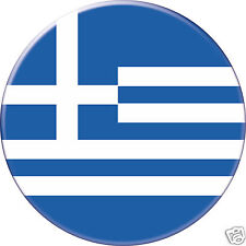 BADGE ROND [56mm] GREECE GRÈCE FLAG DRAPEAU PAYS COUNTRY