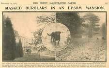 1907 4 Burglars Raid Ashtead Park Epsom Pantai Ralli