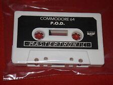 P.O.D. - Vintage COMMODORE 64/128 Juego-Mastertronic Ltd-flojo cinta de trabajo